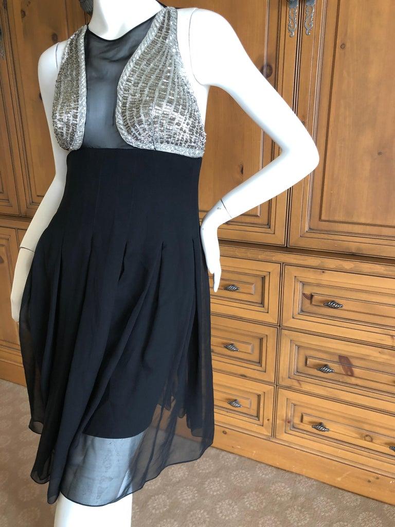 Black Karl Lagerfeld 1984 Lesage Sequin Embellished Mini Dress For Sale