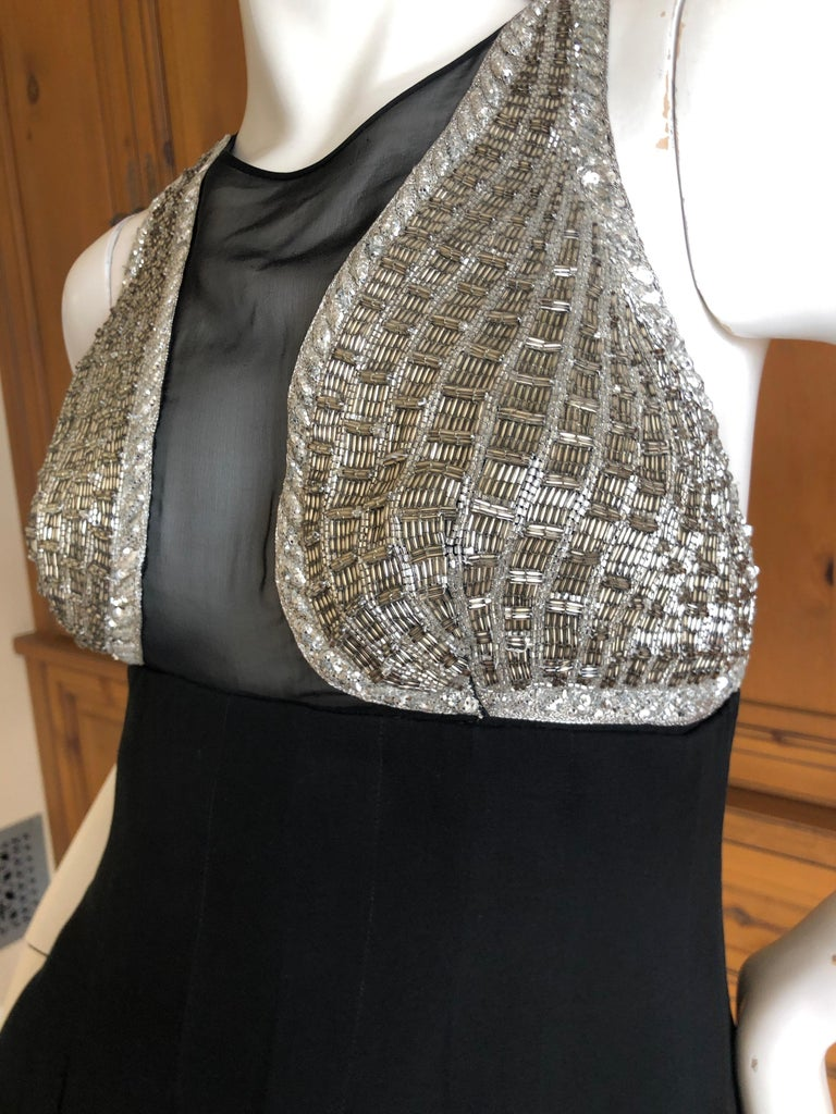 Karl Lagerfeld 1984 Lesage Sequin Embellished Mini Dress In Excellent Condition For Sale In San Francisco, CA