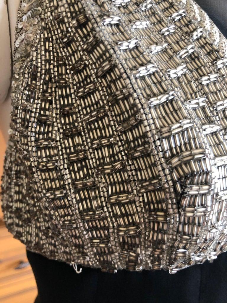 Karl Lagerfeld 1984 Lesage Sequin Embellished Mini Dress For Sale 3
