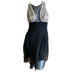 Karl Lagerfeld 1984 Lesage Sequin Embellished Mini Dress