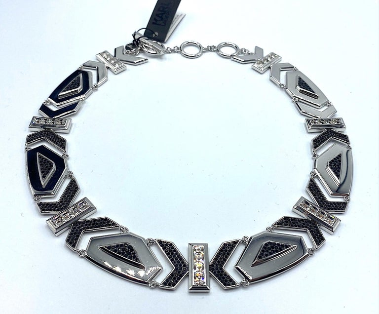 Karl Lagerfeld Art Deco Style Limited Edition Necklace no. 2 of 25 In Excellent Condition For Sale In New York, NY