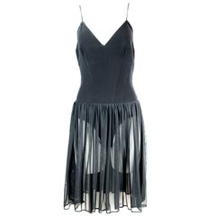 Karl Lagerfeld Black Spagetti Strap Mini Dress Size 40