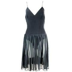 Karl Lagerfeld Black Spaghetti Strap Mini Dress Size 40