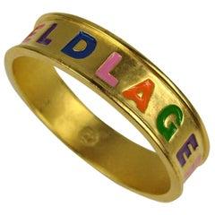Karl Lagerfeld Enameled Bangle Bracelet 1980s New Never Worn