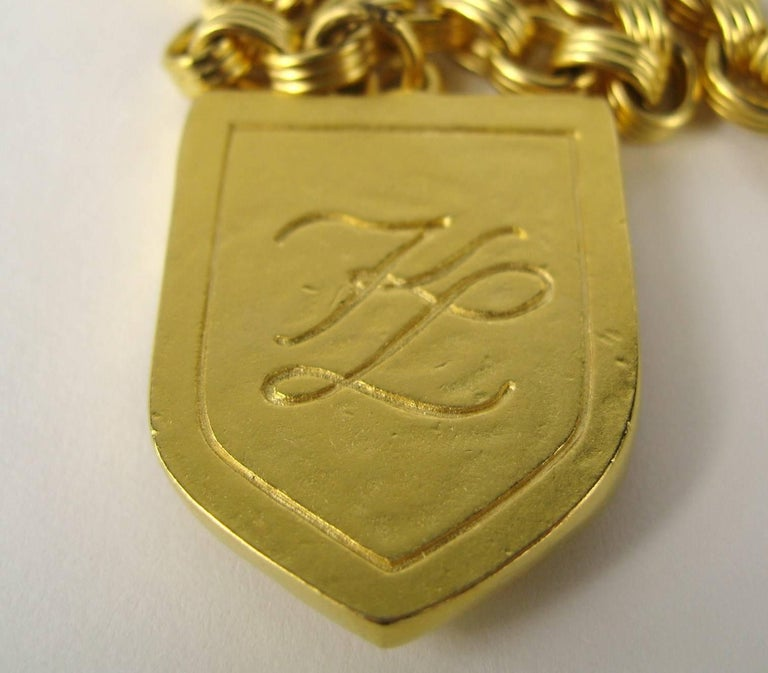 Karl Lagerfeld Enameled Charm Necklace 14 Blvd De La Madeleine New, Never Worn  For Sale 2