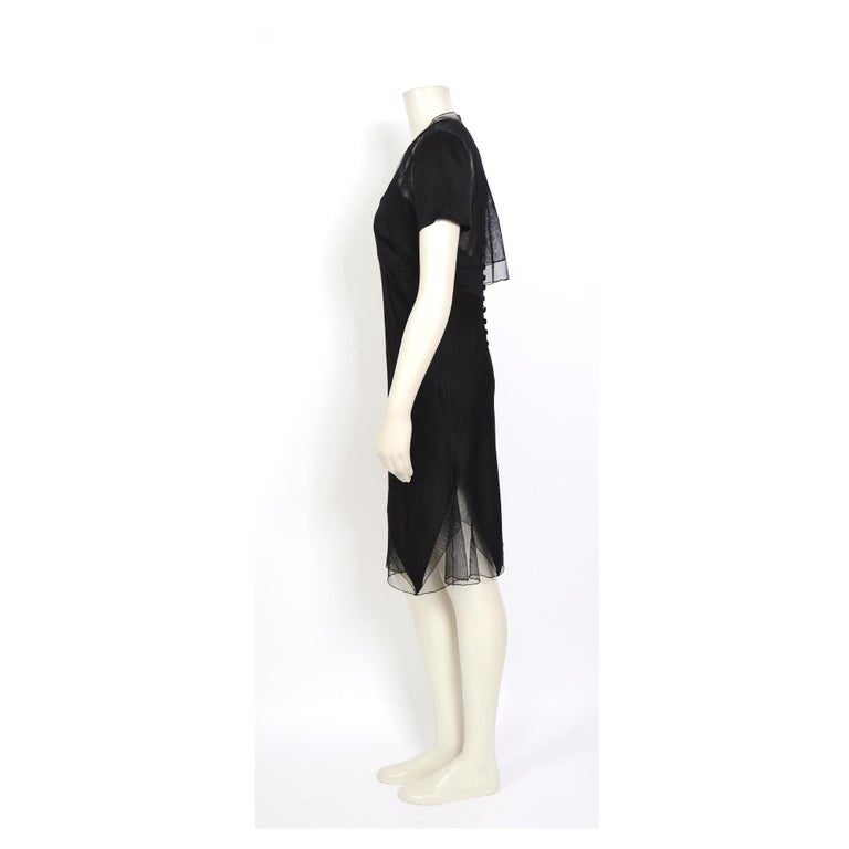 Karl Lagerfeld fall 1994/95 vintage black silk dress with matching top In Excellent Condition For Sale In Antwerp, BE