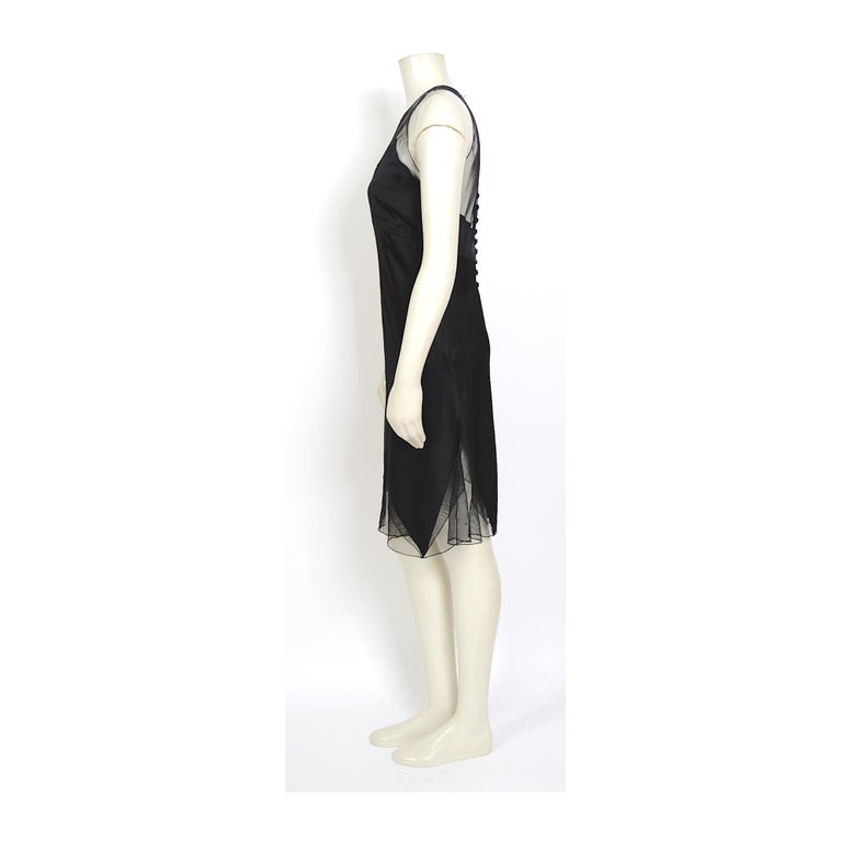 Women's Karl Lagerfeld fall 1994/95 vintage black silk dress with matching top For Sale