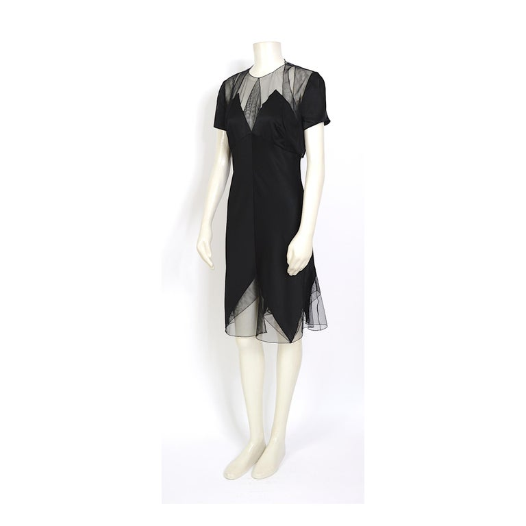 Karl Lagerfeld fall 1994/95 vintage black silk dress with matching top For Sale 1
