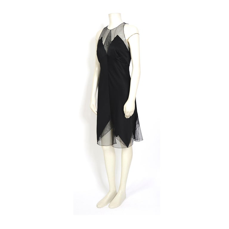 Karl Lagerfeld fall 1994/95 vintage black silk dress with matching top For Sale 2