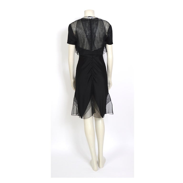 Karl Lagerfeld fall 1994/95 vintage black silk dress with matching top For Sale 3