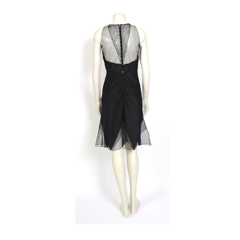 Karl Lagerfeld fall 1994/95 vintage black silk dress with matching top For Sale 4