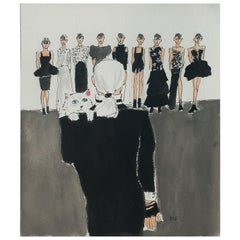 Karl Lagerfeld Fashion Show, One of a Kind Watercolor