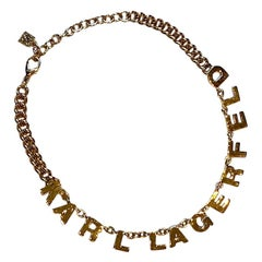 Karl Lagerfeld Name Necklace