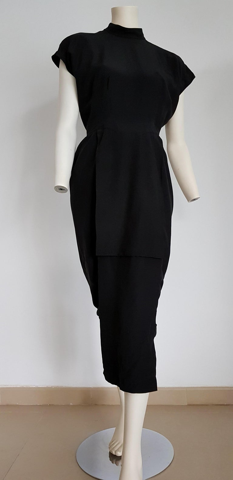 Karl LAGERFELD Haute Couture, unique kimono model by Lagerfeld, black silk gown - Unworn, New.  SIZE: equivalent to about Small / Medium, please review approx measurements as follows in cm: lenght 130, chest underarm to underarm 50, bust
