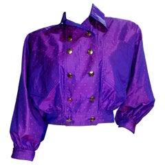 Karl Lagerfeld Polka Dot Cropped Jacket