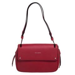 Karl Lagerfeld Red Leather K/Ikon Shoulder Bag