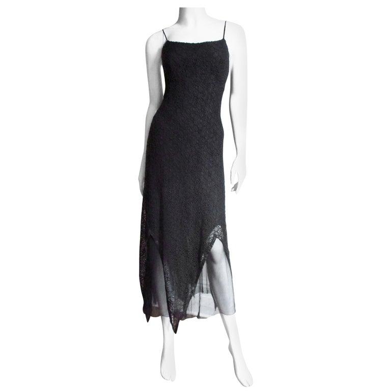 Karl Lagerfeld Silk Lace Slip Dress For Sale