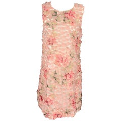 KARL LAGERFELD Size 12 Pink Floral Polyester Sheath Dress