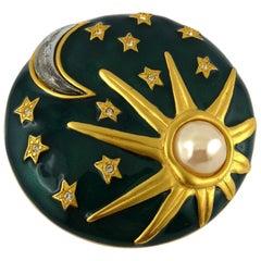 Karl Lagerfeld Sun Moon Stars Enamel Brooch