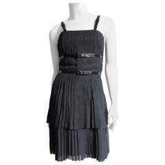 Karl Lgerfeld Silk Dress with Straps