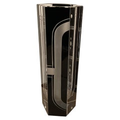 Karl Palda Art Deco Czech Glass Bud Vase