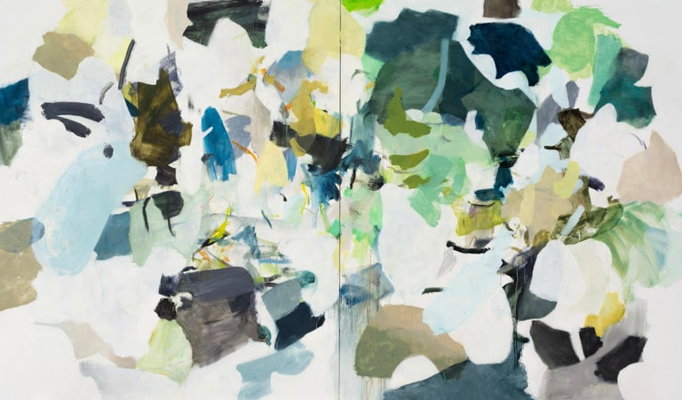 Karl Pilato Abstract Painting - The Dark and Sunny Woods