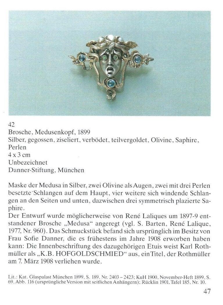 Karl Rothmüller Jugendstil Medusa Brooch For Sale 7