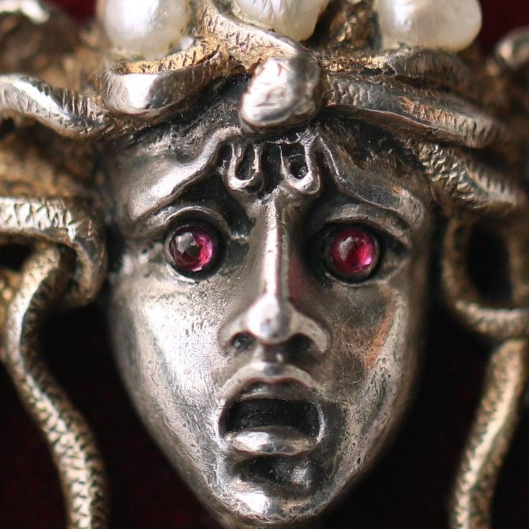 Karl Rothmüller Jugendstil Medusa Brooch For Sale 1