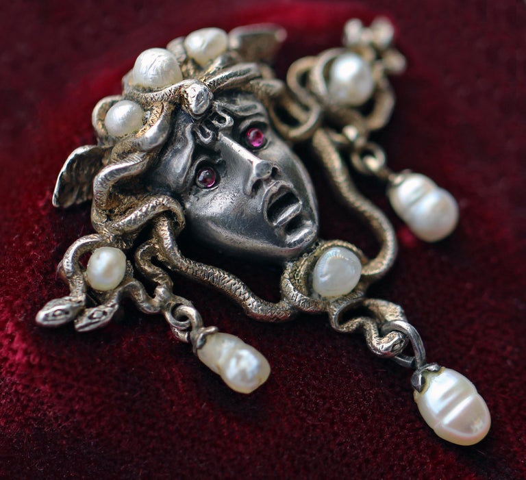Karl Rothmüller Jugendstil Medusa Brooch For Sale 2