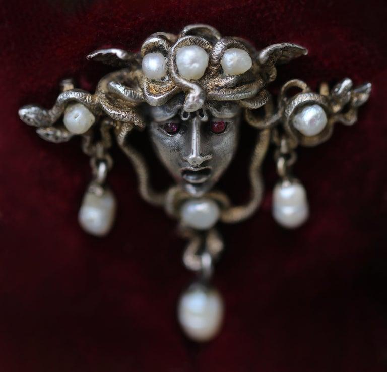 Karl Rothmüller Jugendstil Medusa Brooch For Sale 3