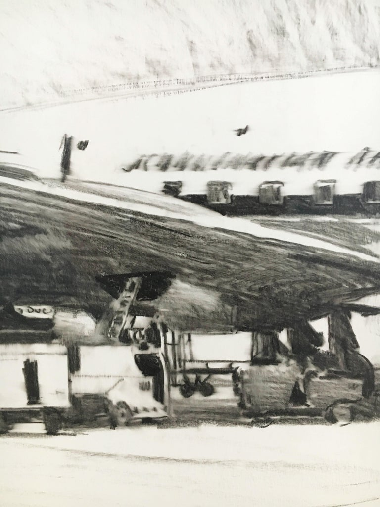 Karl Schiestl Original Airport Vienna 'Neubau' Drawings 'No. IIII', Austria 1959 For Sale 3