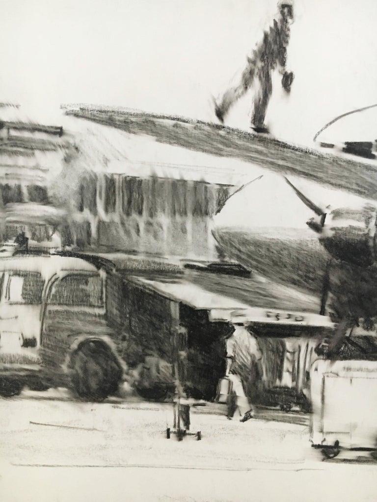 Karl Schiestl Original Airport Vienna 'Neubau' Drawings 'No. IIII', Austria 1959 For Sale 4