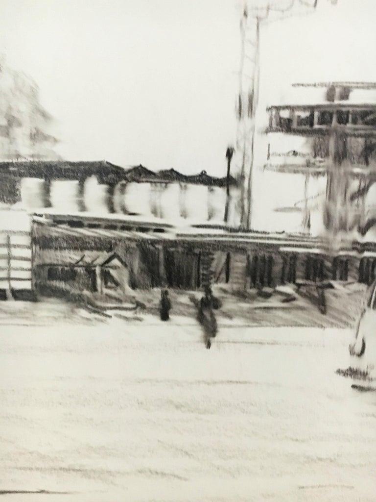 Karl Schiestl Original Airport Vienna 'Neubau' Drawings 'No. IIII', Austria 1959 For Sale 6