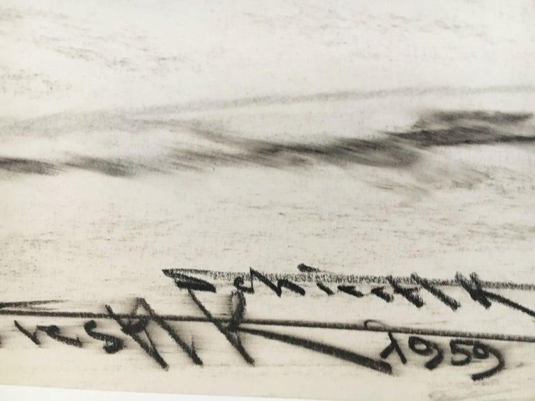Karl Schiestl Original Airport Vienna 'Neubau' Drawings 'No. IIII', Austria 1959 For Sale 8