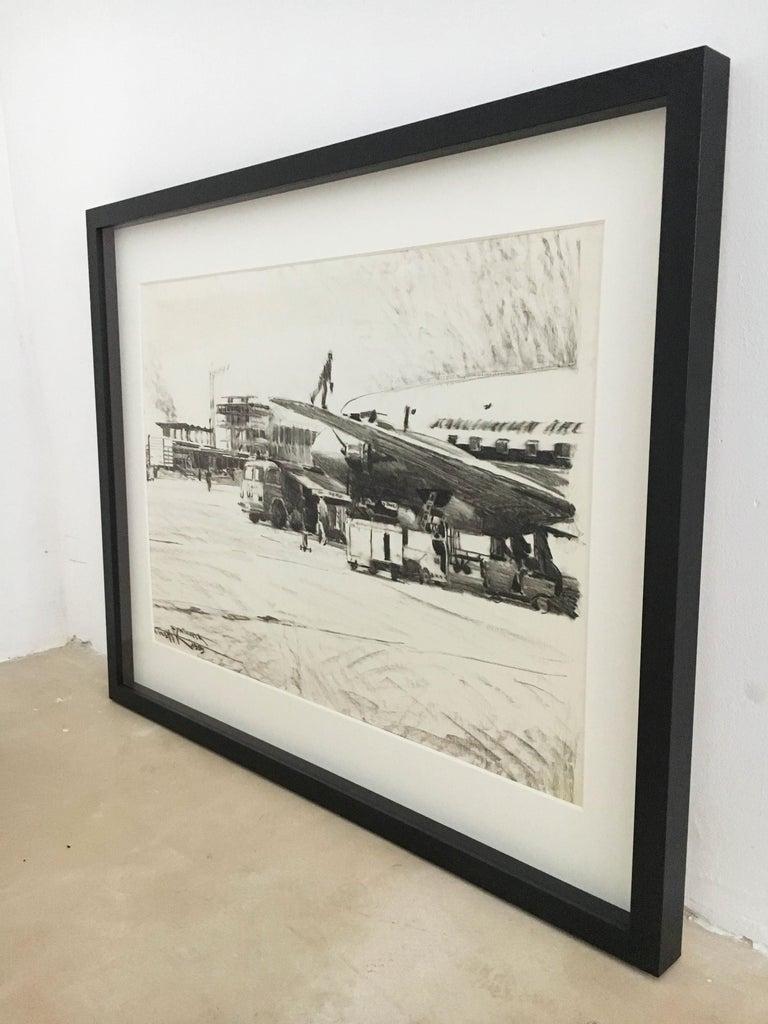 Mid-20th Century Karl Schiestl Original Airport Vienna 'Neubau' Drawings 'No. IIII', Austria 1959 For Sale