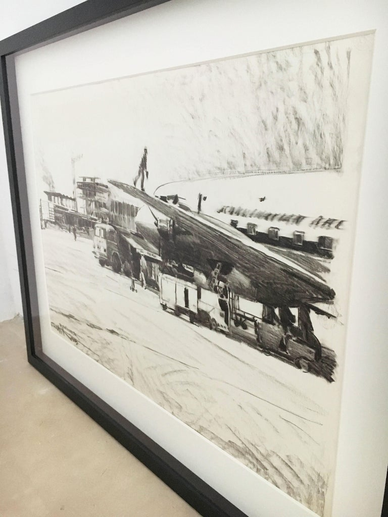 Karl Schiestl Original Airport Vienna 'Neubau' Drawings 'No. IIII', Austria 1959 For Sale 1