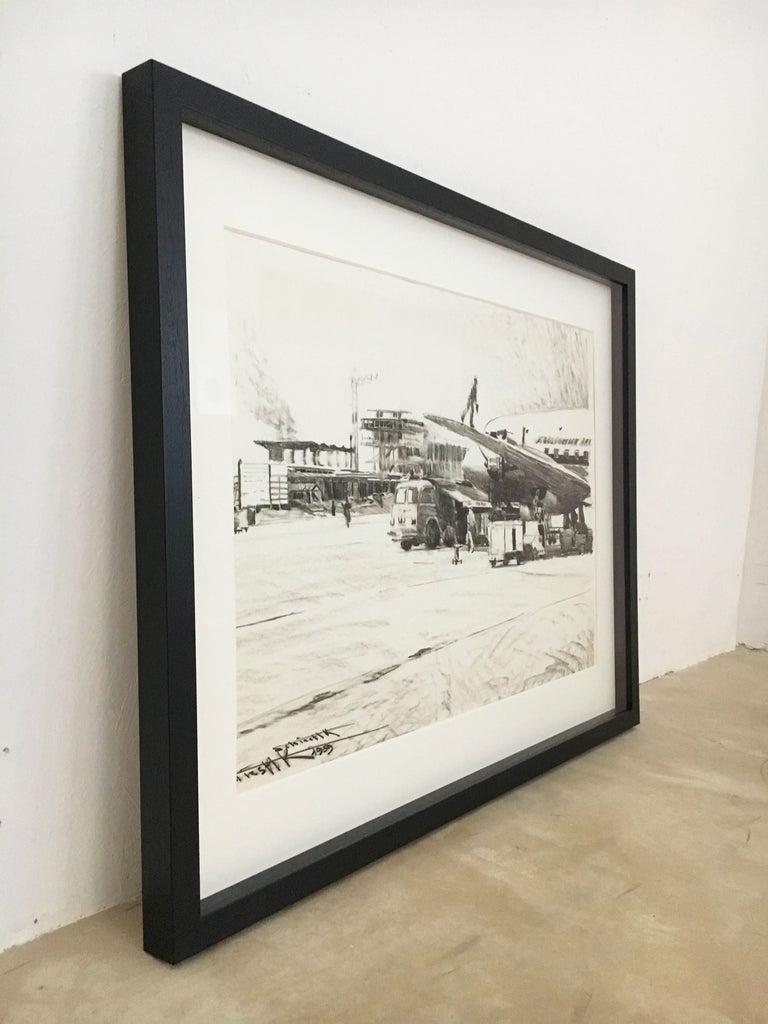 Karl Schiestl Original Airport Vienna 'Neubau' Drawings 'No. IIII', Austria 1959 For Sale 2