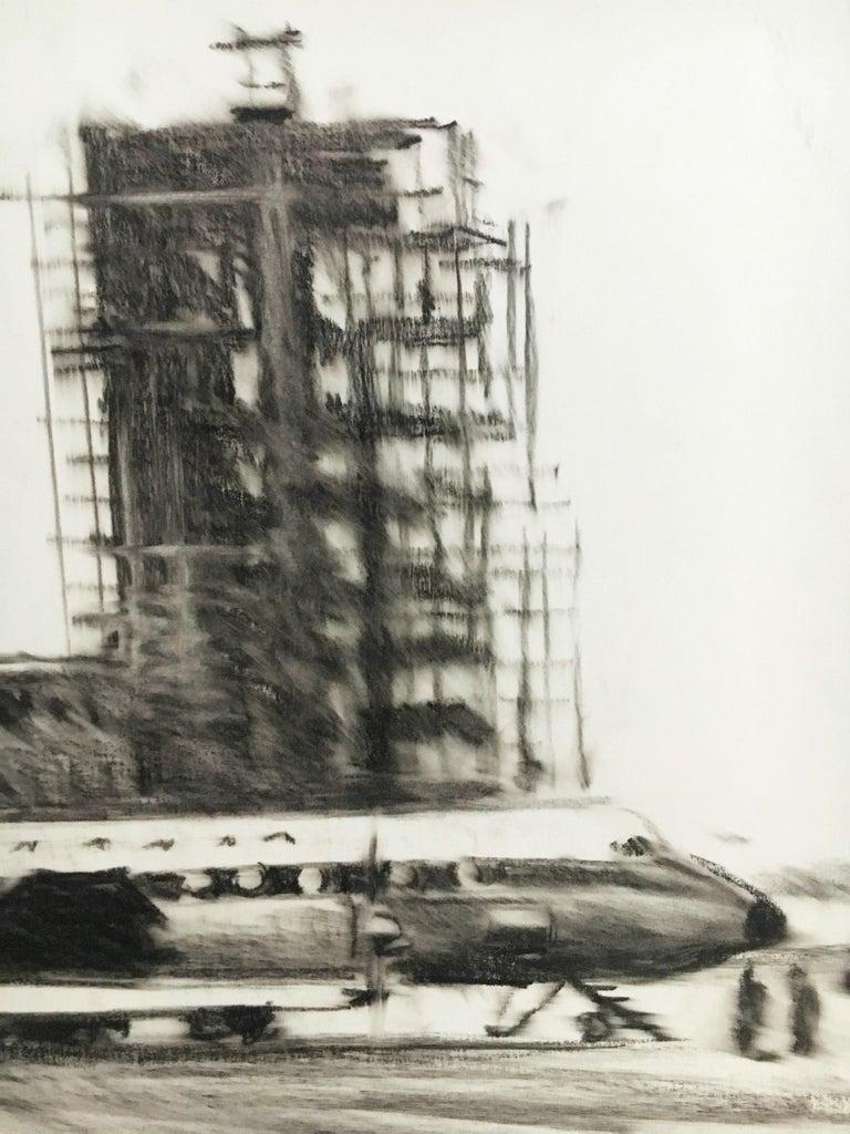 Karl Schiestl Set of Four Large Airport Vienna 'Neubau' Drawings, Austria 1959 For Sale 6