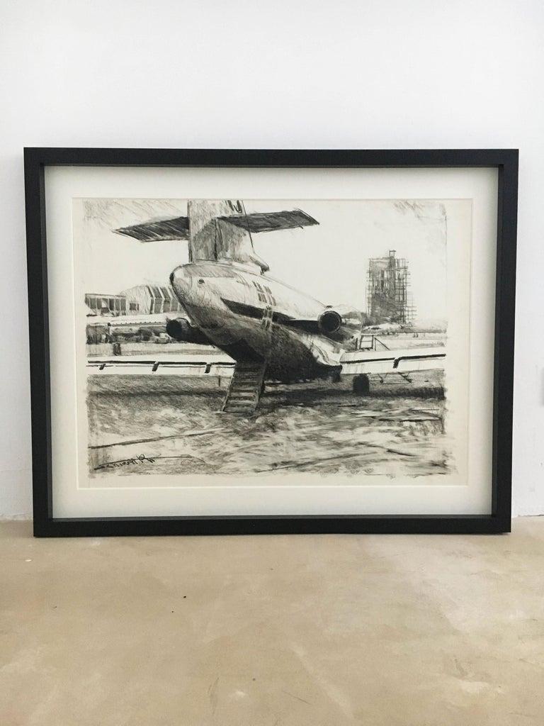 Karl Schiestl Set of Four Large Airport Vienna 'Neubau' Drawings, Austria 1959 For Sale 7