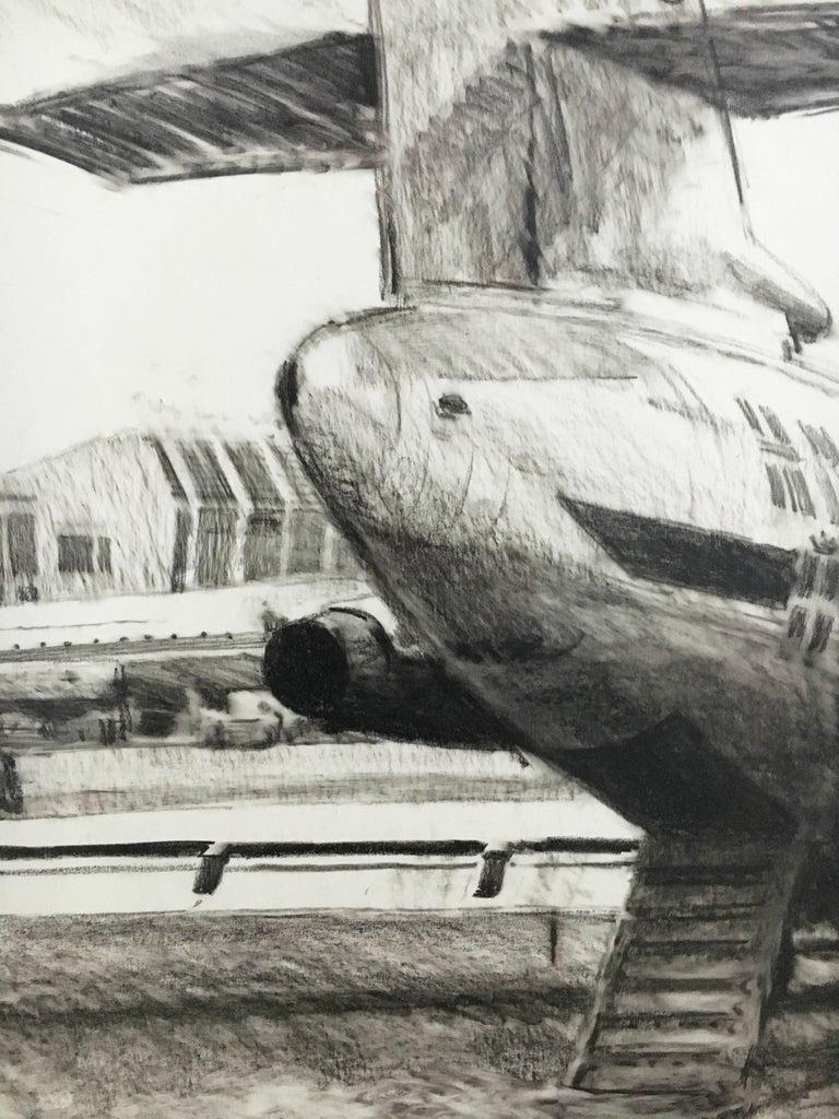Karl Schiestl Set of Four Large Airport Vienna 'Neubau' Drawings, Austria 1959 For Sale 9