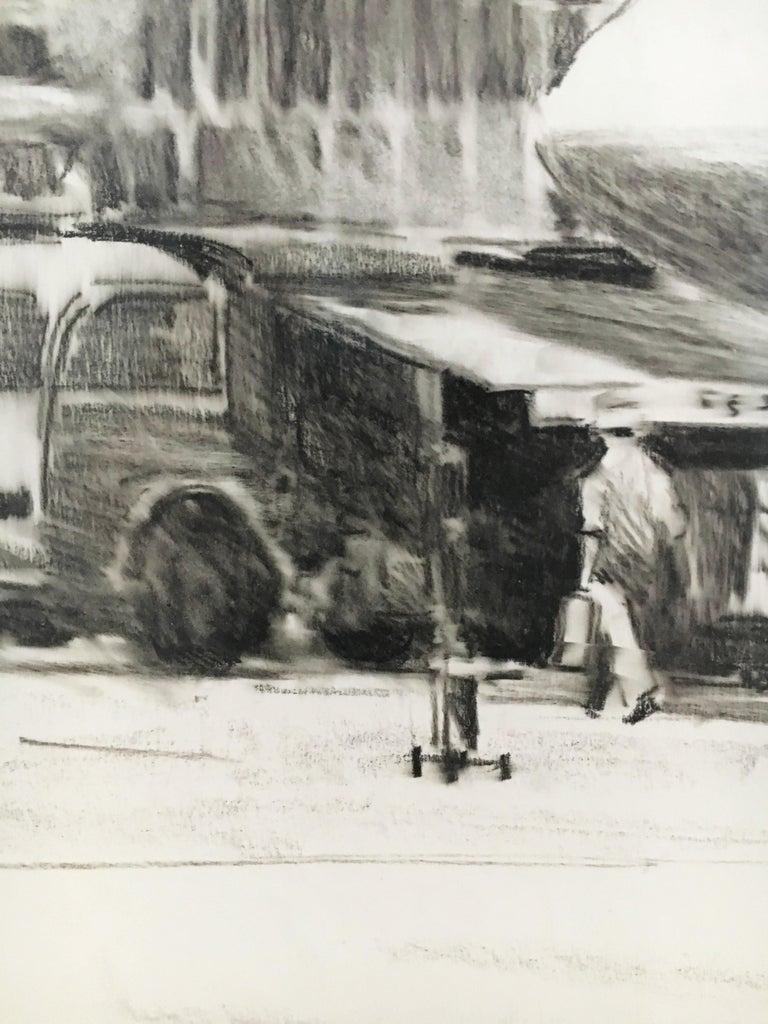 Karl Schiestl Set of Four Large Airport Vienna 'Neubau' Drawings, Austria 1959 For Sale 12