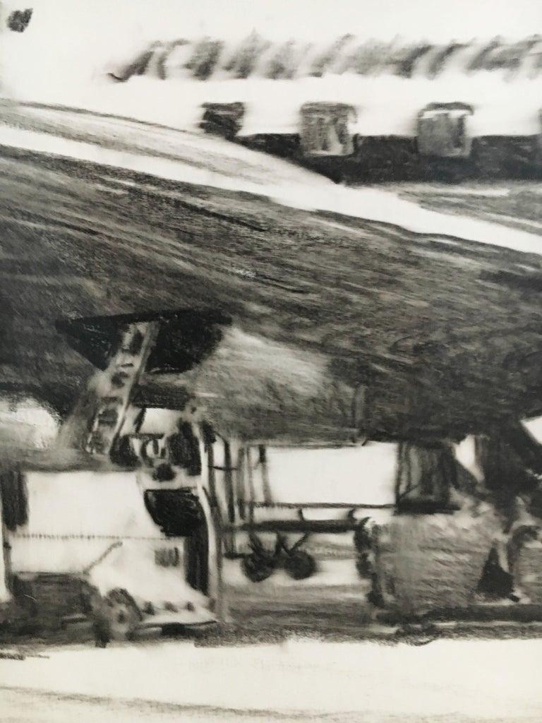 Karl Schiestl Set of Four Large Airport Vienna 'Neubau' Drawings, Austria 1959 For Sale 13
