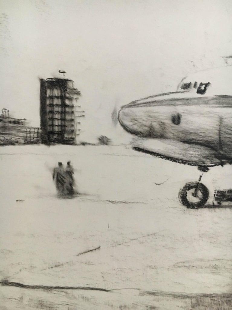 Karl Schiestl Set of Four Large Airport Vienna 'Neubau' Drawings, Austria 1959 For Sale 2