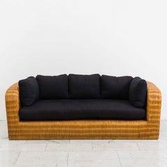 Karl Springer, Wicker Pullman Sofa, USA, 1985