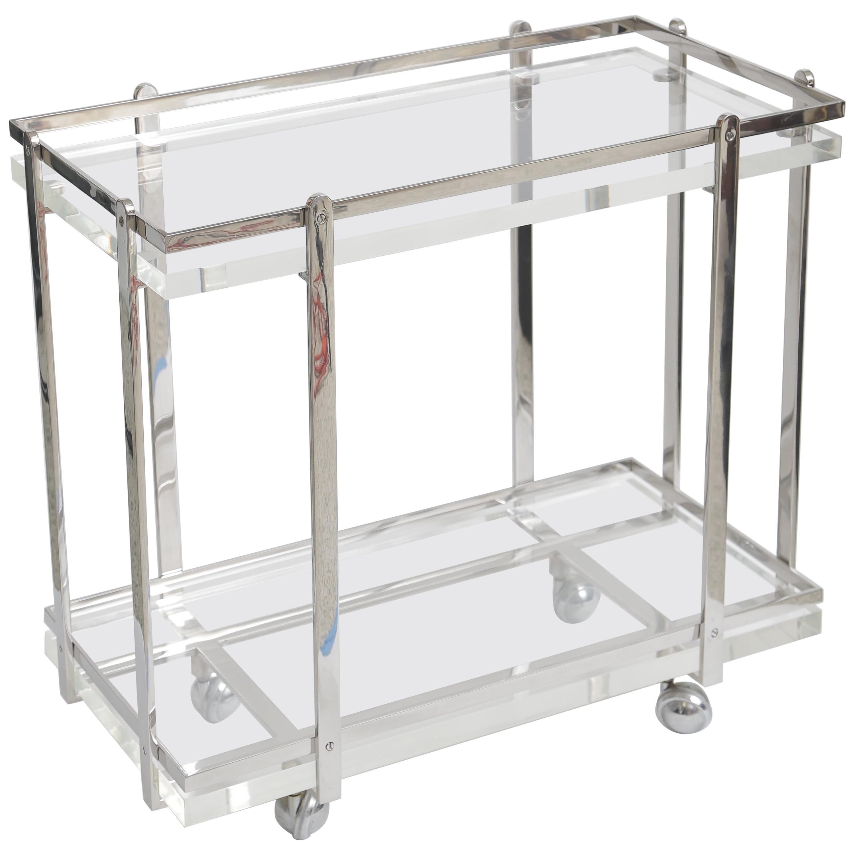Karl Springer Bar Cart