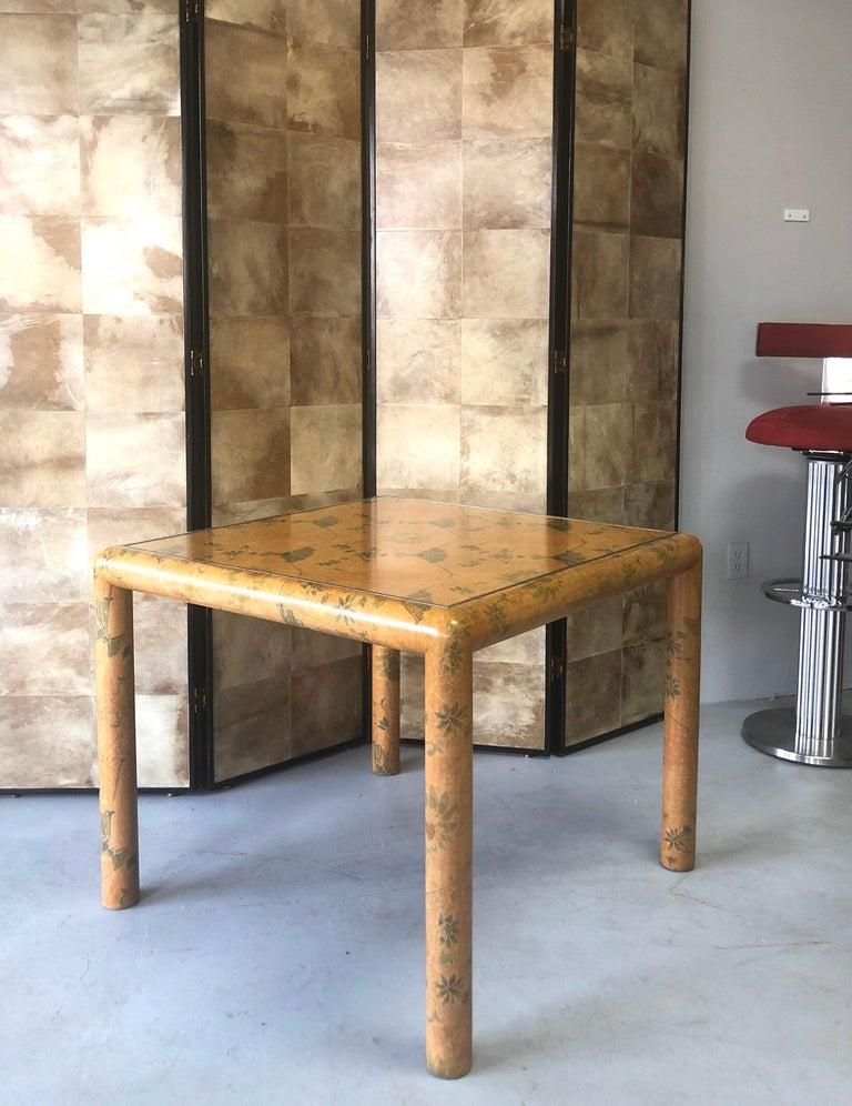 Karl Springer Batik Game Table For Sale 4