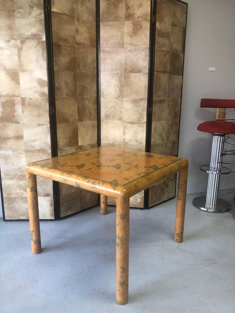 Karl Springer Batik Game Table For Sale 5