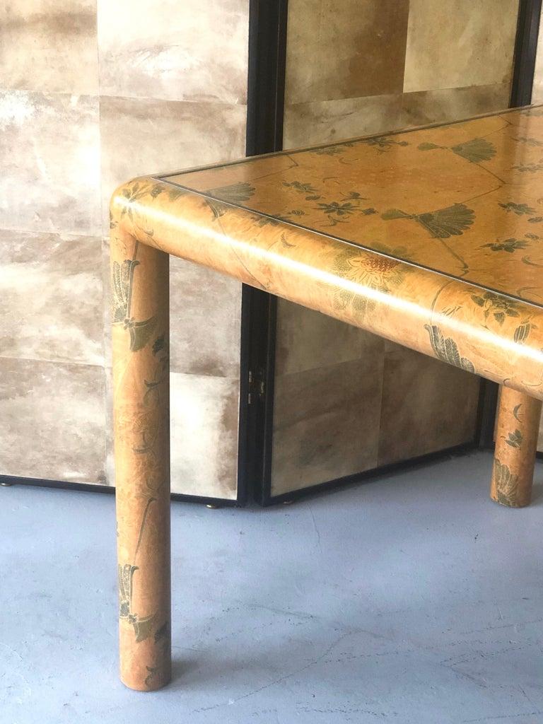 Karl Springer Batik Game Table For Sale 6