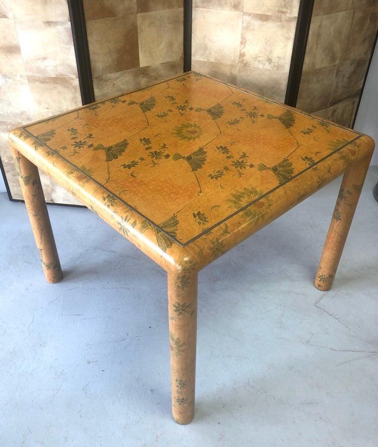 Karl Springer Batik Game Table For Sale 7