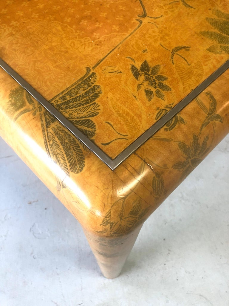 Karl Springer Batik Game Table In Good Condition For Sale In Miami, FL